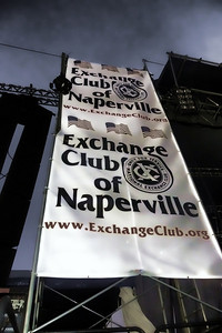 Exchange Club banner on South stage