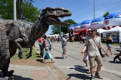 Ribfest 2017 - Naperville, Illinois - Dinosaur