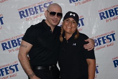 Ribfest 2018 - Naperville, Illinois - Meet and Greet with Pitbull