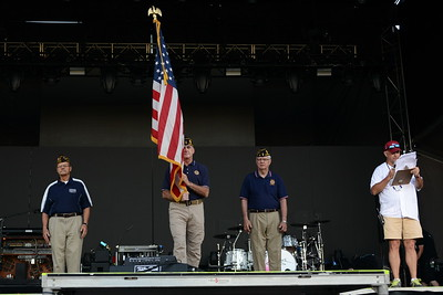 Ribfest 2018 - Naperville, Illinois - National Anthem and Honor Guard