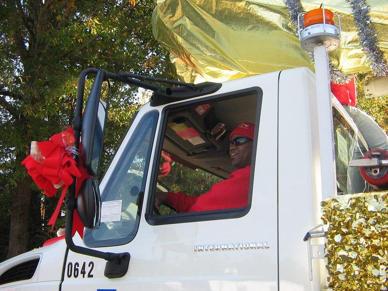 Melvin had fun driving the truck.