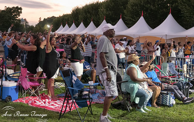 The crowd enjoying the sounds of Black Violin at the 2019 Richmond Jazz and Music Festival on Saturday, August 10, 2019