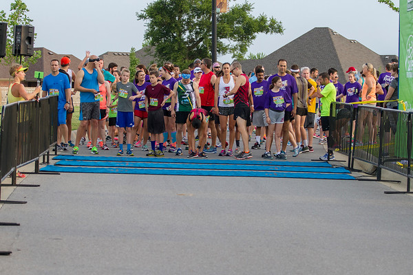 The streets of Bentonville where filled with runners and bicyclists participating in the Ride, Run, Rock & Roll.  From a 4k run to a 25 or 55 mile bike ride, participants conquered the heat,  rain, and hills to cross the finish line.