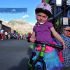 Riders came in all shapes and sizes at Ride the Rockies, though this one just stuck around Telluride with her mom and dad.