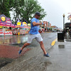 Rain was a welcome change in the weather in Salida. Before the storm during the sixth stop, temperatures were in the 90s.
