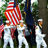 Debbie Blank | The Herald-Tribune<br /> U.S. Naval Sea Cadet Corps Flying Tigers Squadron members were perfectly in sync as they carried in flags to start the Ride to Remember.