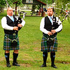 Debbie Blank | The Herald-Tribune<br /> Mark Morton (left) and Brendan Allendorf of the Lawrenceburg-based 35th Indiana Pipes and Drums Corps, played mournful bagpipe music to begin and end the program to honor the late Sgt. Chad Keith.