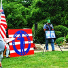"Debbie Blank | The Herald-Tribune<br /> Tim Kieffer stands at the Seig family home in Weisburg outside of Sunman near a sign for the Salute a Soldier 5K, which was started to recall Tony Seig and the M&M (Memorial and Meditation) Park, ""a place to reflect on the price of freedom."" The ashes of Tony and his dad were scattered at the site. The teen, who wore combat bats in the East Central High School weight room, ""felt like he was doing what mattered and what was important"" when serving in the Army. ""He is the youngest (19) of the soldiers we honor on this Ride to Remember."""