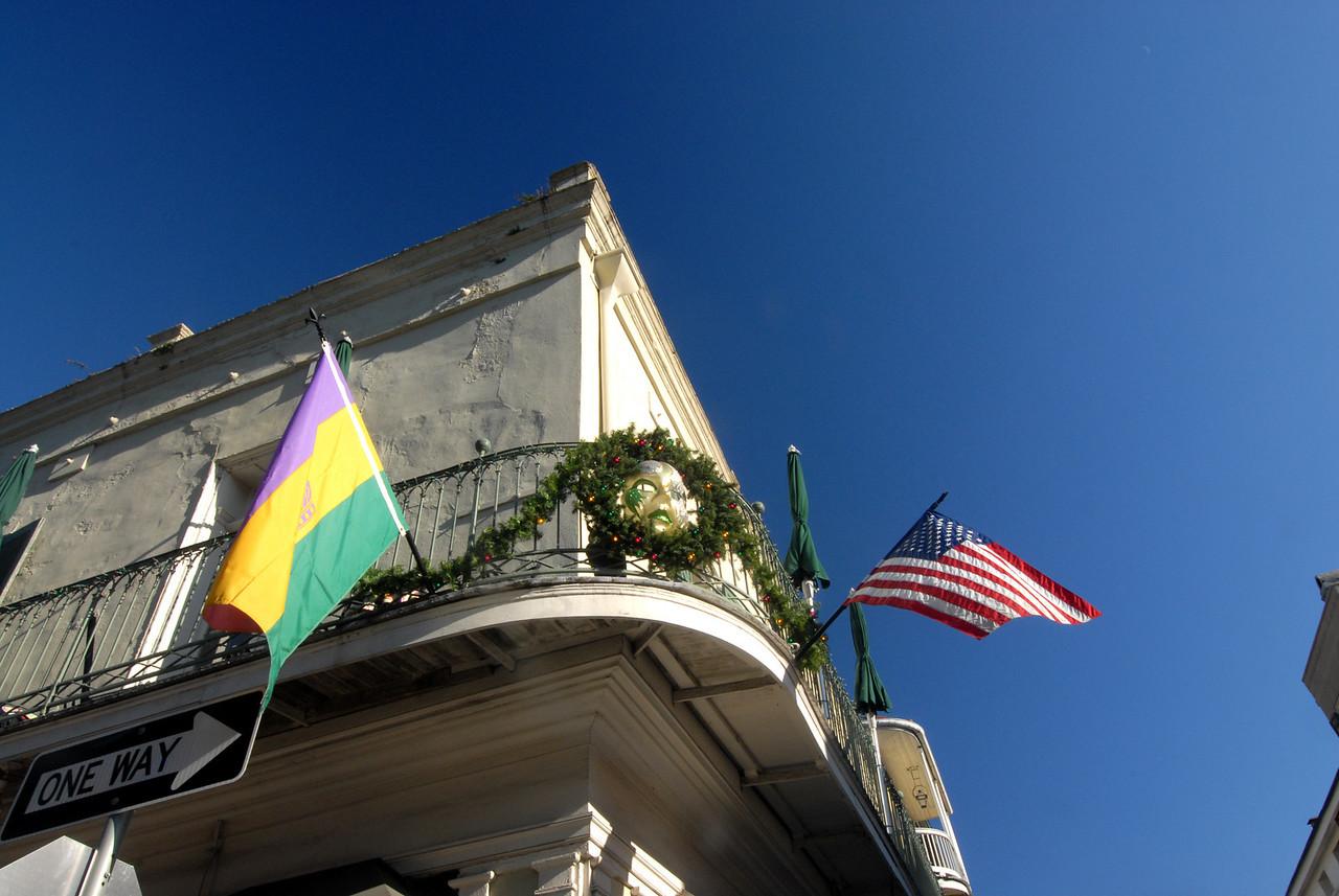 French Quarter - Mardi Gras Flags