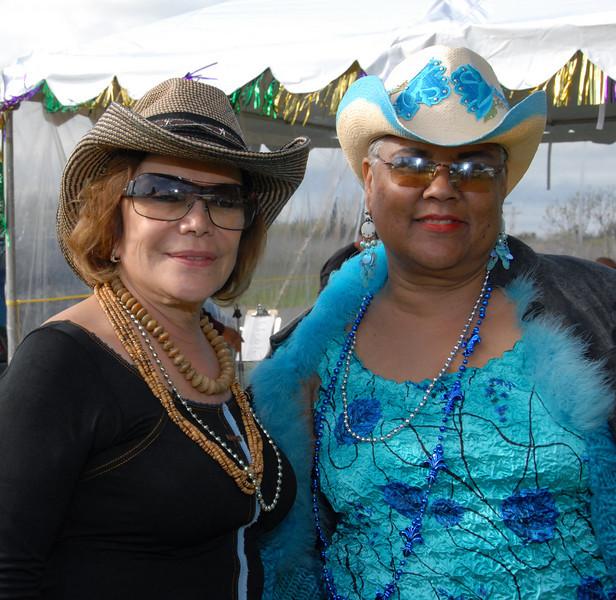 Mardi Gras - Iris & Friend