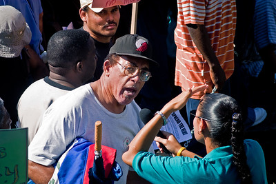 Scenes from the riot on Independence Hill on January 22, 2005 in Belmopan, Cayo.