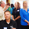 Debbie Blank | The Herald-Tribune<br /> Members chat while in line for a buffet lunch provided by Izzy's Catering, Batesville, at the Ripley County Chamber of Commerce 19th annual Business Recognition Luncheon May 17 at the Southeastern Indiana REMC Training Center, Osgood.