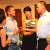 Debbie Blank | The Herald-Tribune<br /> Coalition Treasurer Kevin Campbell (from right) and wife Natasha invited Jeremy and Elizabeth Miller to be their table guests.