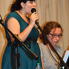 Debbie Blank | The Herald-Tribune<br /> Mary Hartman (left) and Ally Weber of Miss Shannon's Music Studio provided before dinner music.
