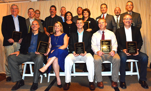 Debbie Blank | The Herald-Tribune RCDAC honorees included (front row from left) Rob Moorhead, Destiny Rutzel, Andy Allen, Daryl Werner and Paul Ketcham; (back row) E.G. McLaughlin, Tim Putnam, Becci Allen, Mark Jenkins, Noel Houze, Fran Moore, Jeffrey Sharp, Amy Phillips, Ryan King, Andy Hertel and Shannon Schmaltz.