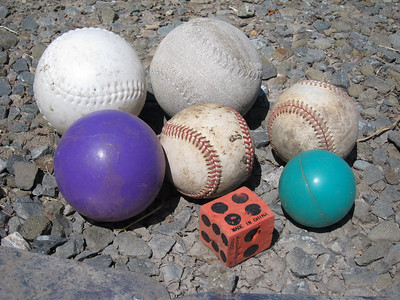 Here's my ball (and die) collection for the day.