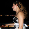 Me looking out down the side of the boat.