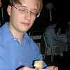 Jim avoiding the flash