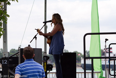 Several concerts were happening along the river front