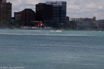The Coast Guard was doing demonstrations in the Detroit River