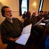 KRISTOPHER RADDER - BRATTLEBORO REFORMER <br /> Tom Kavet, a member of the River Singers, rehearses on Tuesday, May, 9, 2017, with the other members for their 25th Anniversary Spring Concert at the The Congregational Church of Westminster West on Saturday.