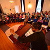 KRISTOPHER RADDER - BRATTLEBORO REFORMER <br /> Members of the River Singers rehearse on Tuesday, May, 9, 2017, for their 25th Anniversary Spring Concert at the The Congregational Church of Westminster West on Saturday.