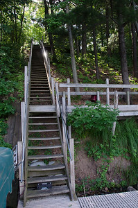 72 steps to the dock