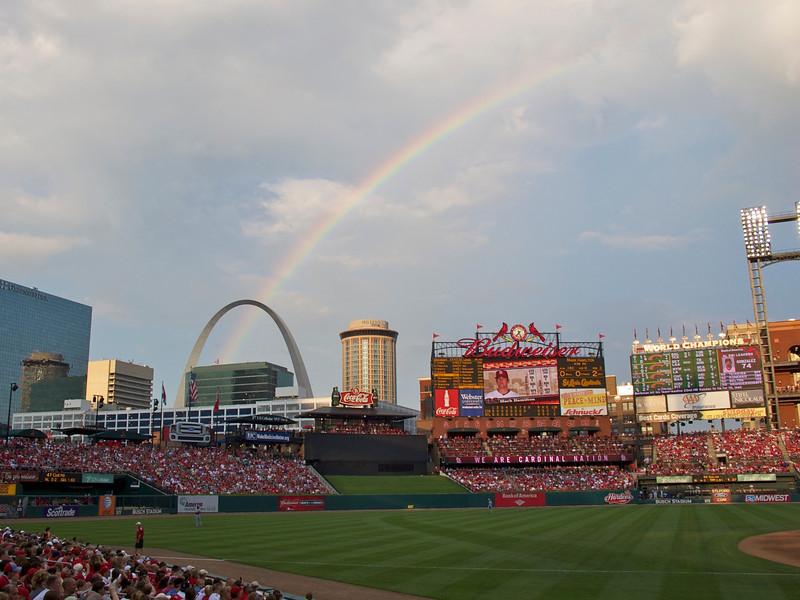 Rainbow at Busch stadium on July 4th