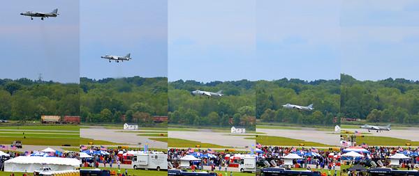 Rochester Air Show - Harrier Jet landing vertically