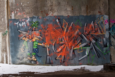 A lot of great graffiti was destroyed.