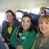 Kathy, Jess, and Nancy on the flight to San Diego!