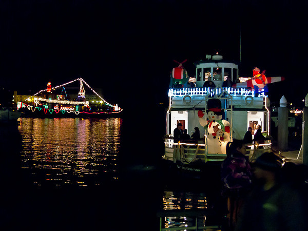 """The boat on the right came in playing """"Jingle Bell Rock"""" on HUGE amplifiers, right after we sang it a capella..."""