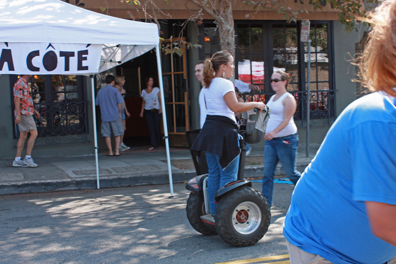 The organizers used Segways
