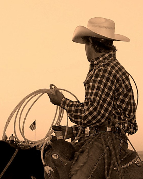 """American Cowboy by Shalayne Smith-Needham.  Selected and published in the magazine """"Cowboys & Indians""""."""