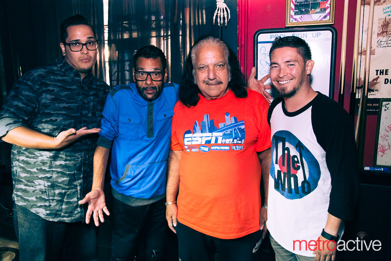 Host Alby Bustamante, with Shaun Weiss, Ron Jeremy, and Garrett Gonzales