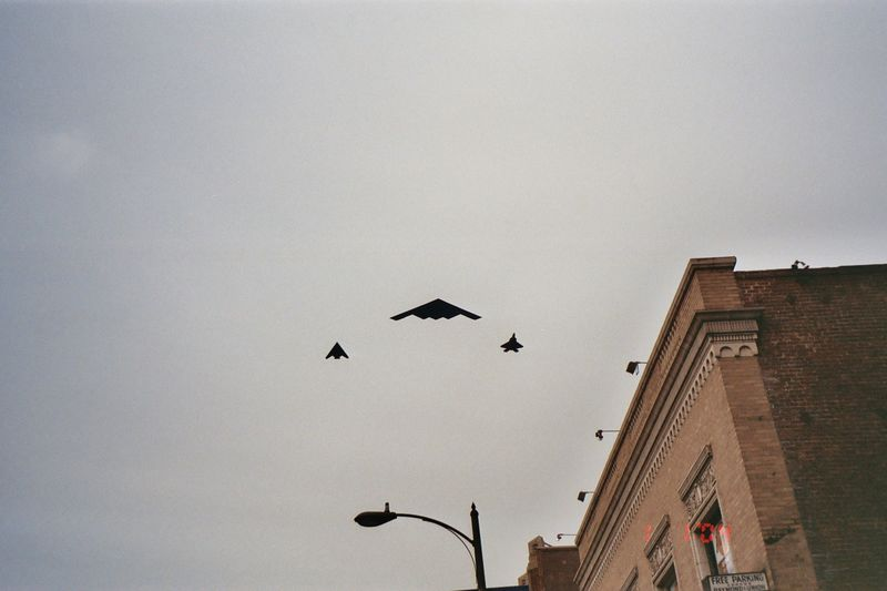 A better look- the B2 Stealth bomber, F117A stealth fighter, and a joint strike fighter- the best of the best
