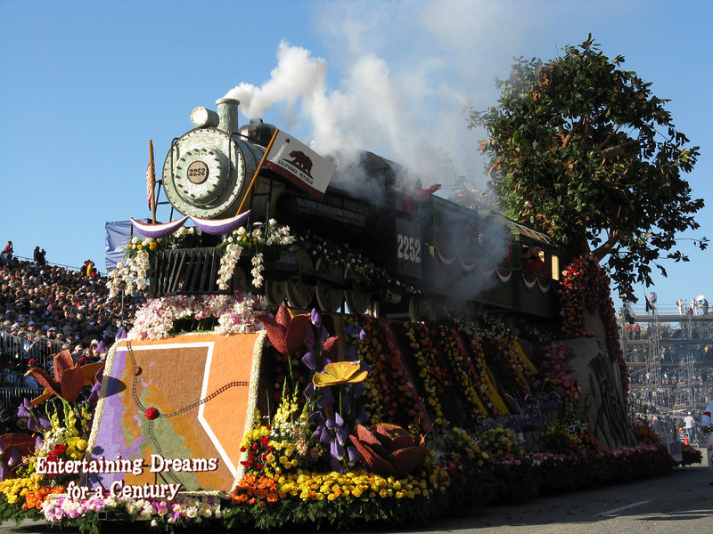 Roseville, CA float was a train.