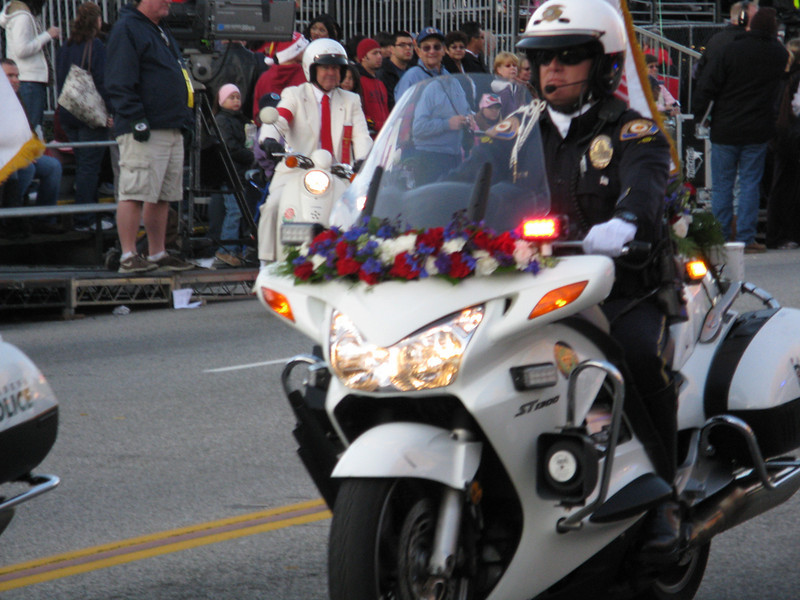 Everything in the parade has flowers on it.
