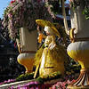 Hoop skirt made of flowers.
