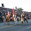 Mounted color guard.
