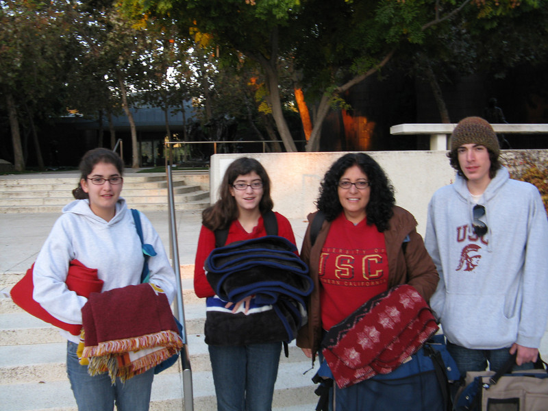 Marissa, Alicia, Christine and Alex in front of the Norton Simon Museum.