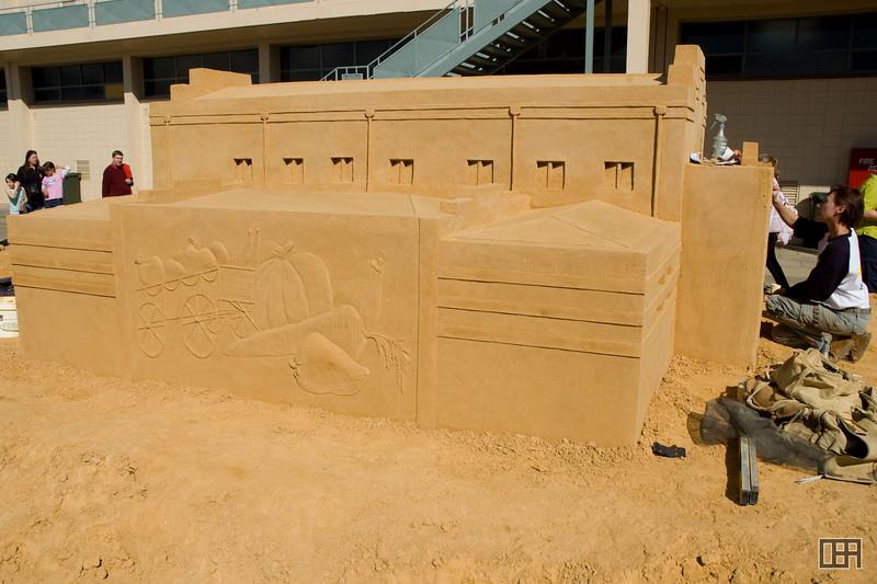 Centennial Hall sand sculpture