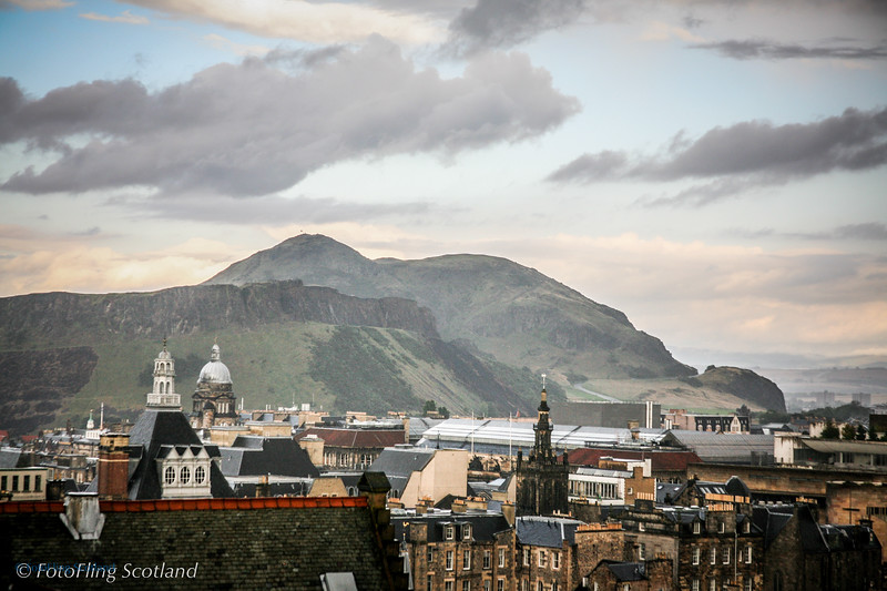 Arthur's Seat from Edinburgh Castle