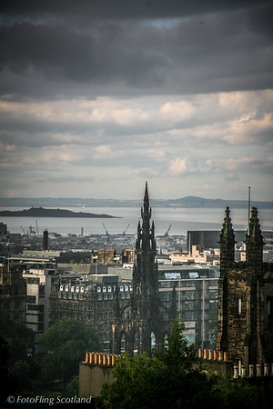The Scott Monument and Firth of Forth