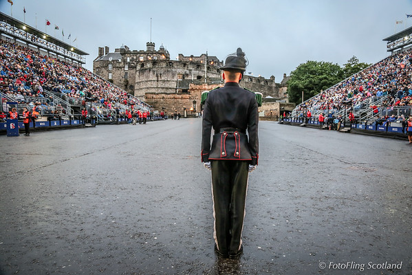 Member of His Majesty The KIng's Guard of Norway awaits Official Dignatory