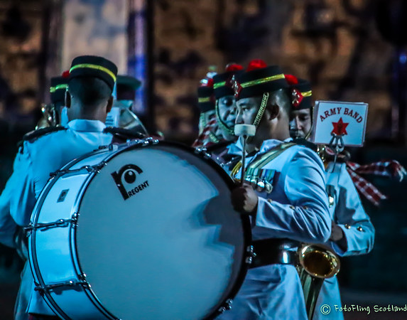 The 2016 Royal Edinburgh Military Tattoo - an annual event combining military spectacle, cultural performance, vibrant music and international colour,  set on the esplanade of Edinburgh Castle.