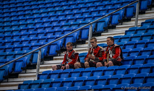 Bandsmen in the Stand