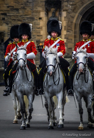 Men on horseback - The Royal Scots Dragoon Guards