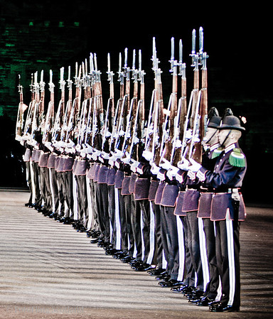 Rifle line up