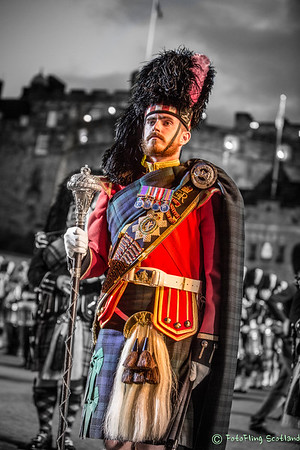Drum Major Sergeant Allan Campbell of the Black Watch 3rd Battalion